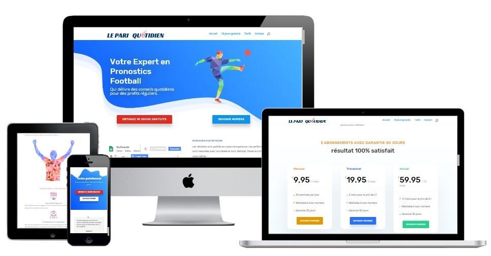 Création Site de paris sportif Le Pari Quotidien
