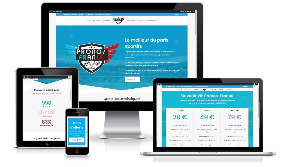 Création Site de paris sportif Pronos France