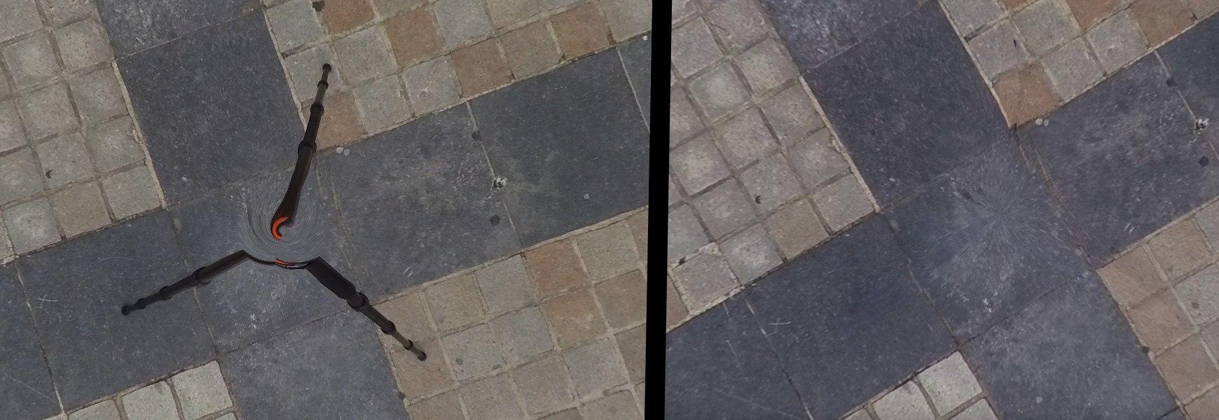 exemple de suppression du support caméra 360
