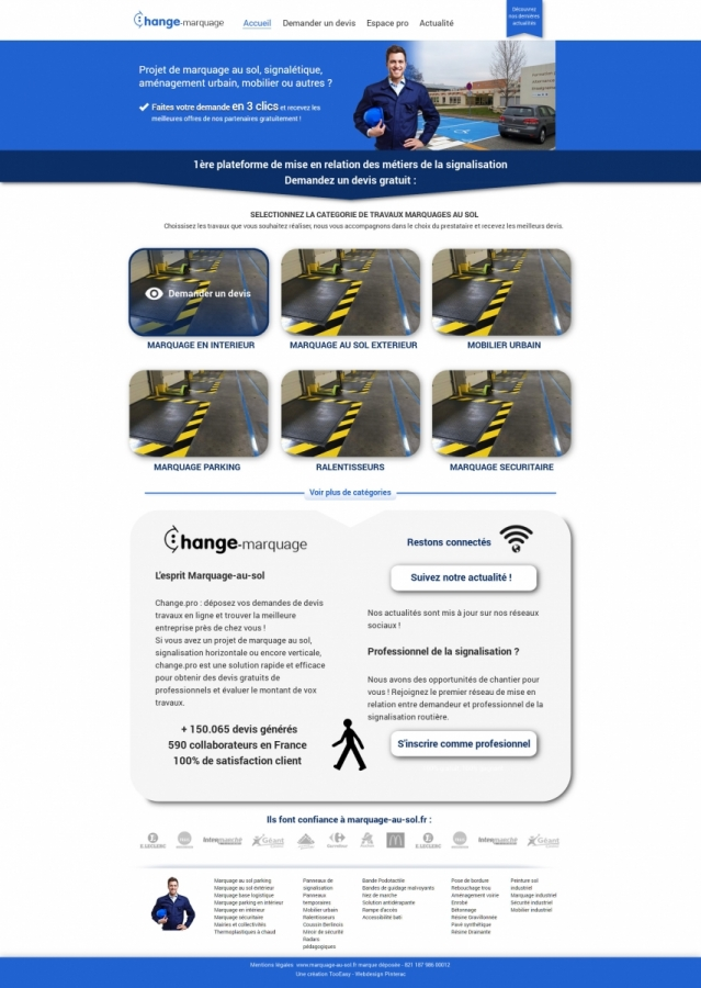 Webdesign et maquettes site web anthony m nard for Blueprint photo gallery