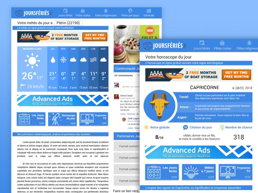 creation webdesign jour férié