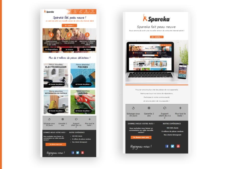 Design newsletter & mailing (from scratch ou via builder)