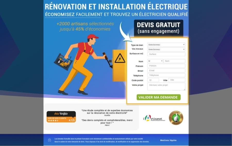 creation landing page html webdesign